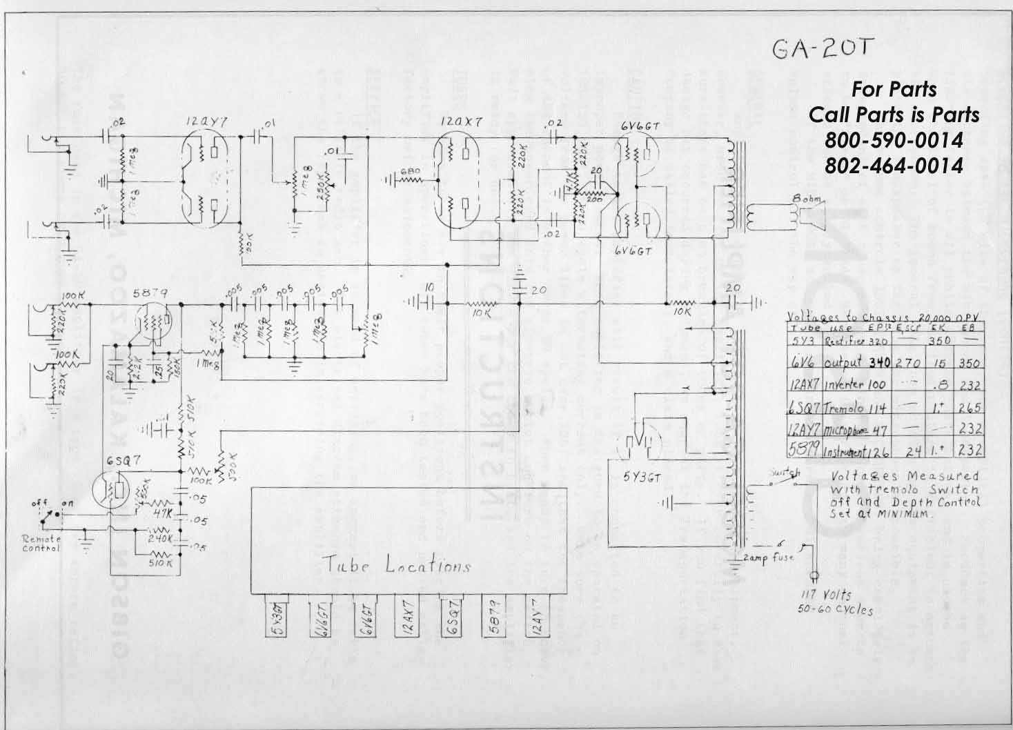 Gibson Garage Amps Wiring Diagram For 1961 Ford Comet And Falcon 6 All Models Schematic