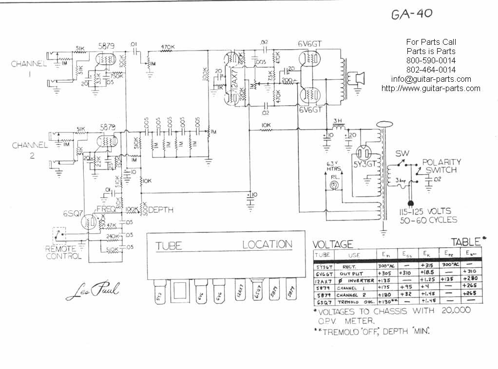 gibson ga 40 schematic